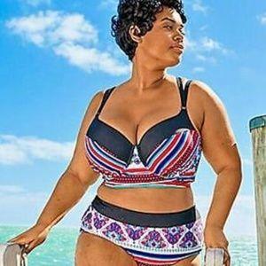 Cacique Swim Bikini Top Size Balconette
